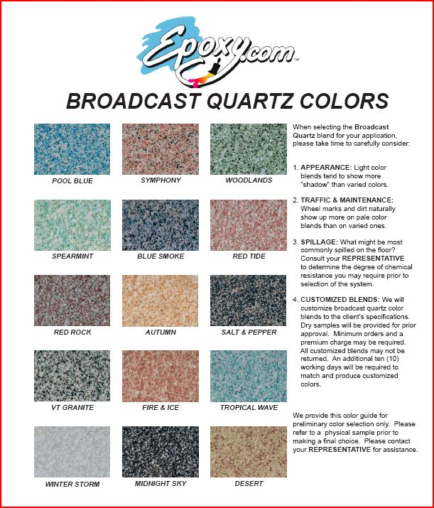 Seamless Epoxy Quartz Flooring Multi Colored 0 Voc