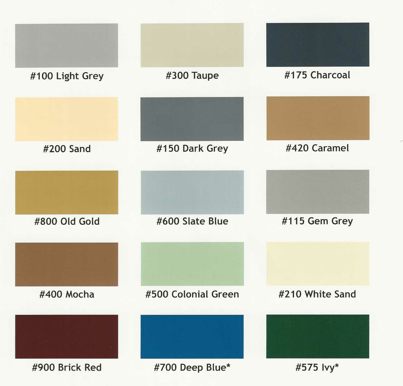 Epoxy.com Color Chart